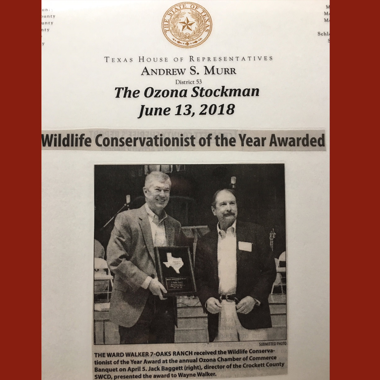 Ranch Conservation Award, Crockett County